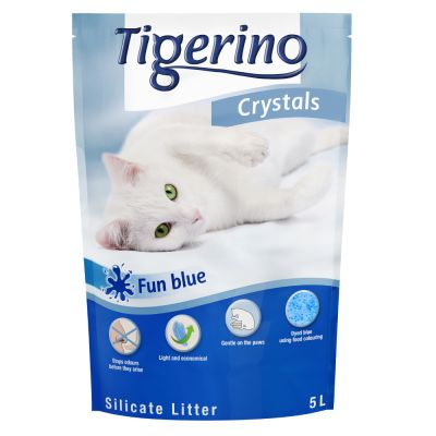 Tigerino Crystals Fun arena absorbente Azul