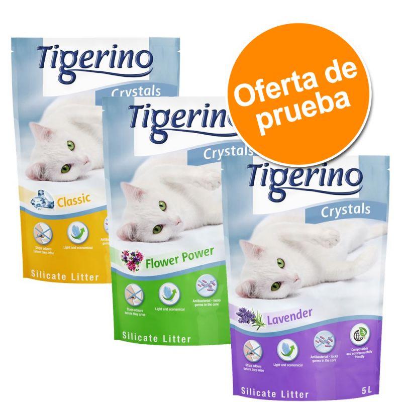 Tigerino Crystals 6 x 5 l arena para gatos - Pack mixto