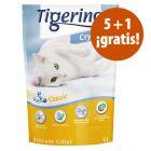 Tigerino Crystals 6 x 5 l en oferta: 5 + 1 ¡gratis!