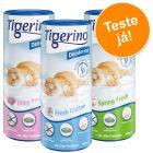 Tigerino desodorizante para areia - Pack de experimentação