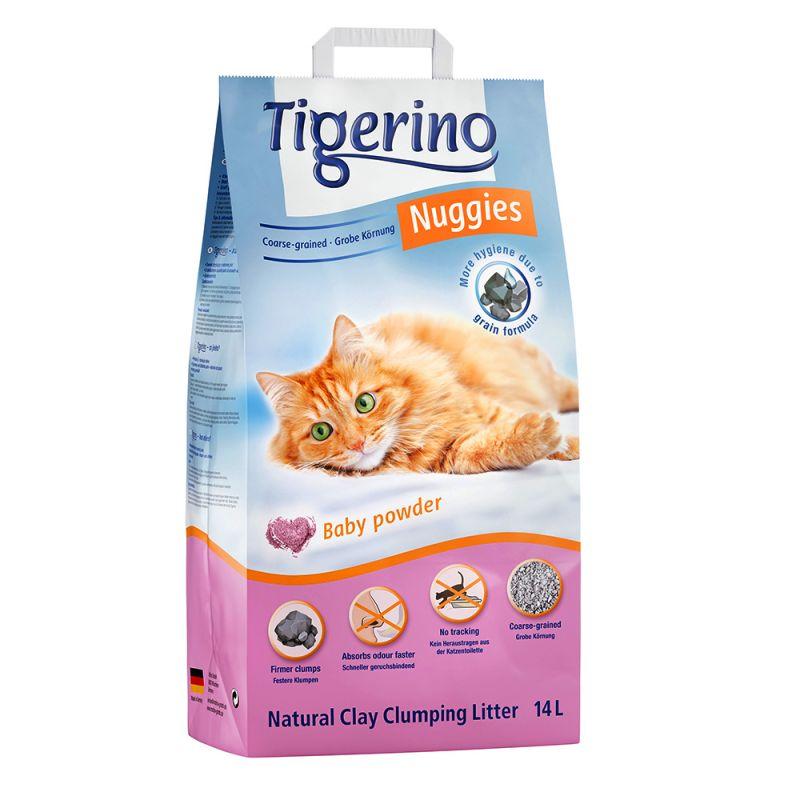 Tigerino Nuggies Classic -kissanhiekka, talkintuoksuinen ja karkea