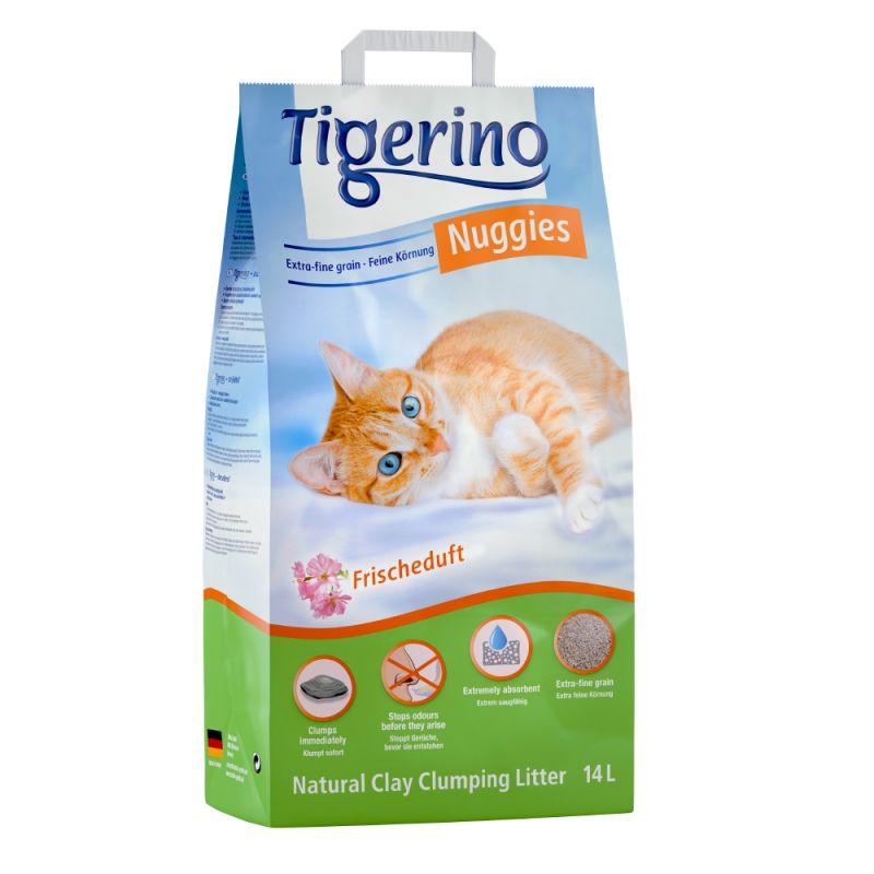 Tigerino Nuggies Fresh areia aglomerante com aroma fresco