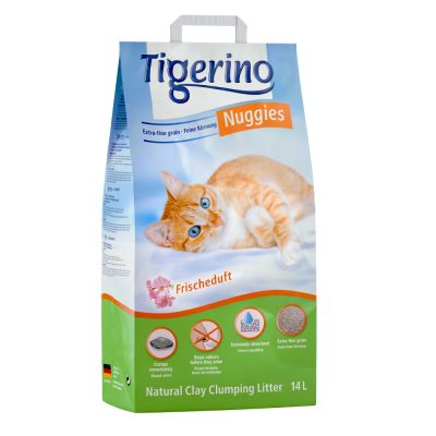 Tigerino Nuggies Fresh arena aglomerante con olor fresco