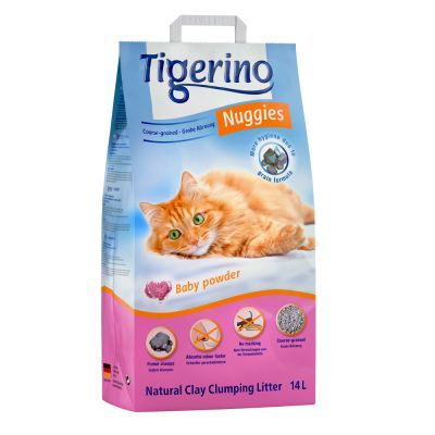 Tigerino Nuggies kissanhiekka 2 x 14 l erikoishintaan!