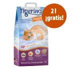 Tigerino Nuggies 14 l arena aglomerante en oferta: 12 + 2 litros ¡gratis!