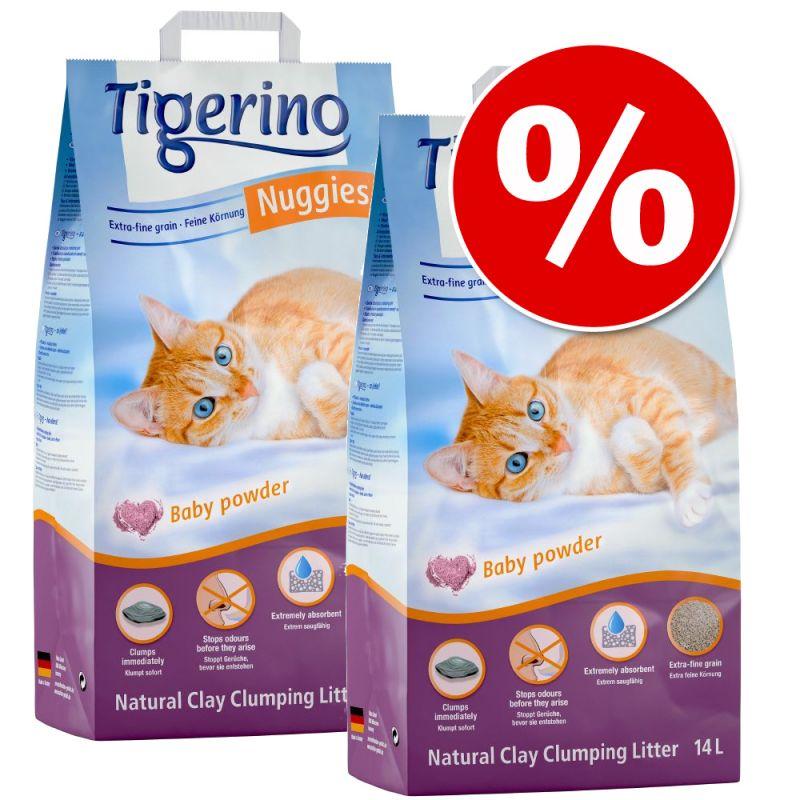 Tigerino Nuggies -säästöpakkaus 2 x 14 l