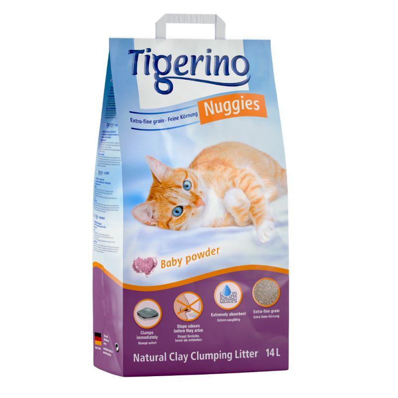 Tigerino Nuggies Ultra -kissanhiekka, talkin tuoksuinen
