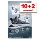 10 + 2 л подарък! 12 л Tigerino Special Care постелка за котешка тоалетна