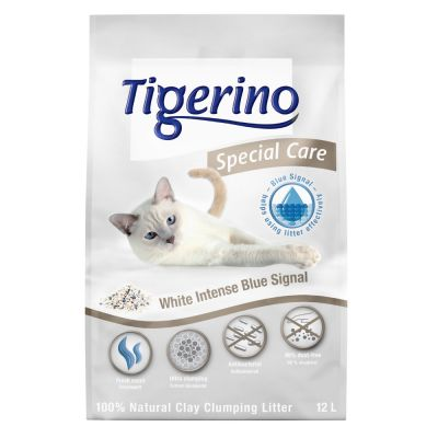 Tigerino Special Care -kissanhiekka - White Intense Blue Signal