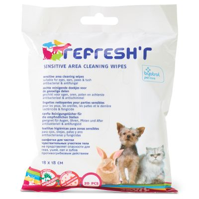 Toalhitas higiénicas Savic Refresh'r Sensitive para cães e gatos