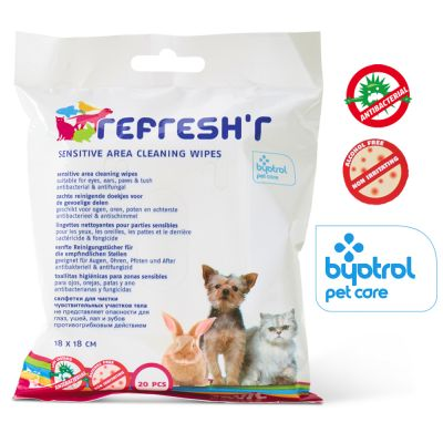 Toallitas higiénicas Savic Refresh'r Sensitive para mascotas
