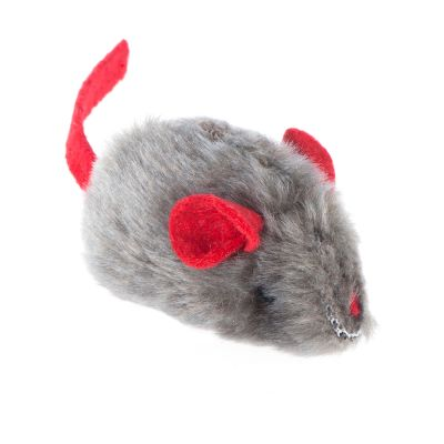 Toy Mouse with Microchip Squeak and Catnip