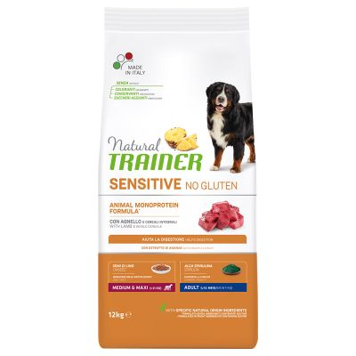 Trainer Natural Sensitive No Gluten Adult Medium/Maxi, jagnięcina