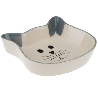 Trixie Cat Face Ceramic Bowl
