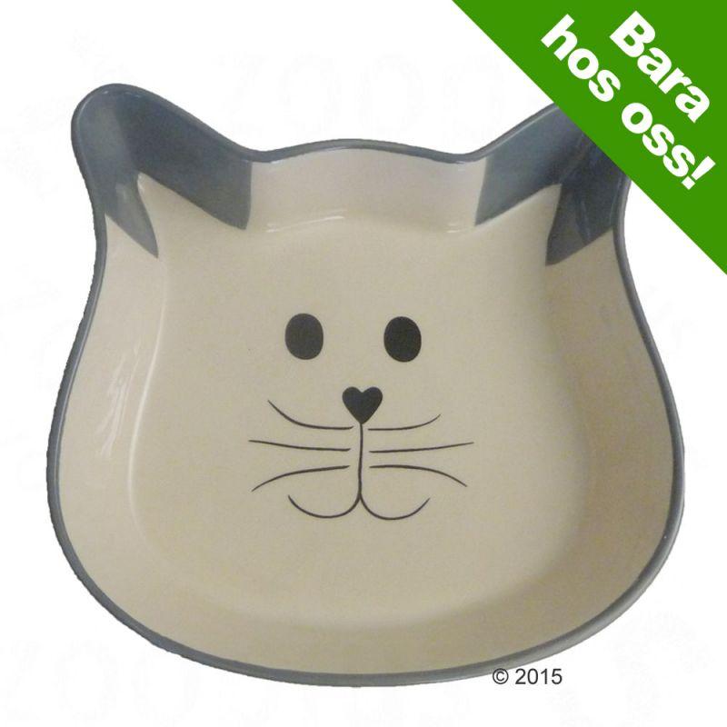 Trixie Cat Face keramikskål