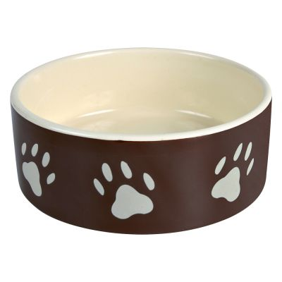 Trixie Ceramic Bowl with Paw Prints