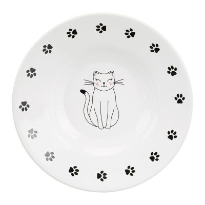 Trixie Ceramic Cat Dish for Short-Nosed Breeds