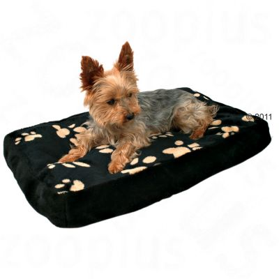 Trixie Dog Cushion Winny - Black with Paw Prints