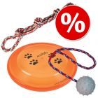 Trixie legetøjssæt: Legetov, Frisbee, Gummibold