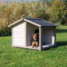 Trixie Natura Lodge -koirankoppi kuistilla