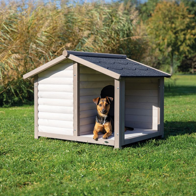 Trixie Natura Log Cabin With Porch Dog Kennel Zooplus Co Uk