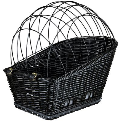 Trixie Rear-Mounted Bicycle Basket - Black