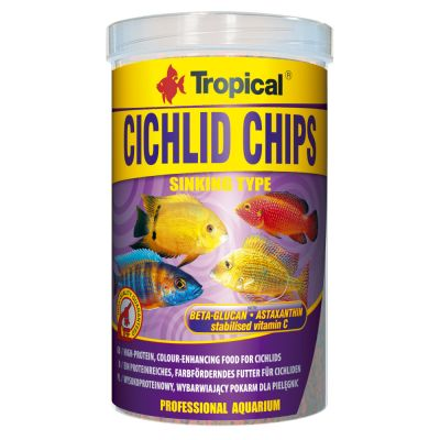 Tropical Cichlid Chips pour poisson