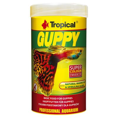 Tropical Guppy en copos para peces