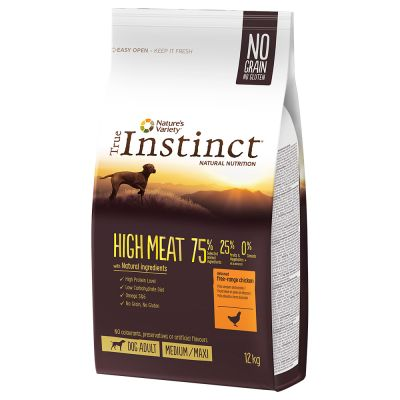 True Instinct Dog High Meat Medium/Maxi Scharrelkip