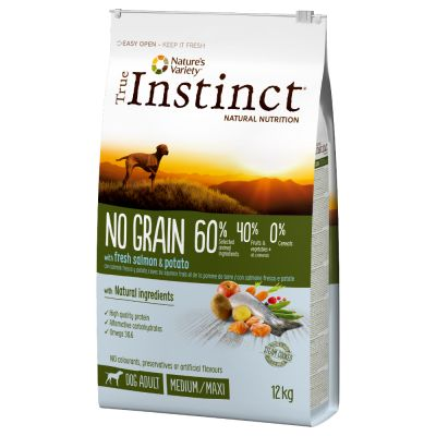 True Instinct Dog No Grain Medium-Maxi saumon