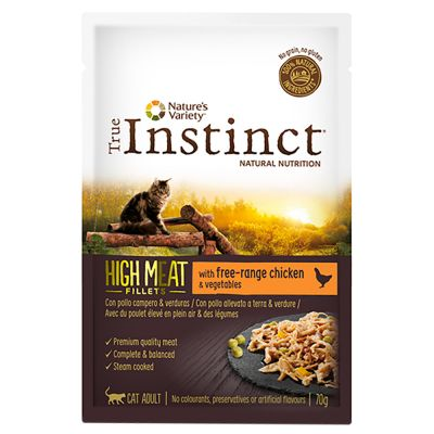 True Instinct High Meat Fillets 16 x 70 g para gatos - Pack Ahorro