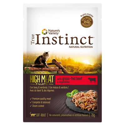 True Instinct High Meat Fillets 16 x 70 g para gatos - Pack económico