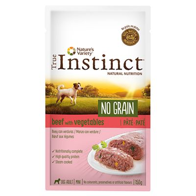 True Instinct No Grain Mini Adult Paté 8 x 150 g