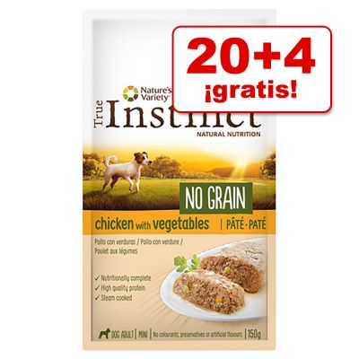 True Instinct No Grain 24 x 150 / 300 g en oferta: 20 + 4 ¡gratis!