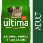 Ultima Adult salmón y arroz pienso para gatos