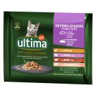 Ultima Cat Sterilized 48 x 85 g comida húmeda para gatos