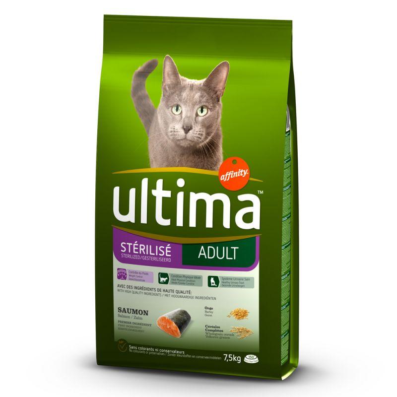 Ultima Chats Stérilisé, saumon, orge pour chat