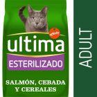 Ultima Esterilizado Adult con salmón pienso para gatos