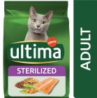 Ultima Stérilisé, saumon, orge pour chat