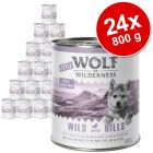 Varčno pakiranje Little Wolf of Wilderness Junior 24 x 800 g