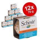 Varčno pakiranje Schesir Natural v omaki 12 x 70 g