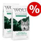 "Varčno pakiranje Wolf of Wilderness ""Explore"" 2 x 12 kg"