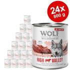 "Varčno pakiranje Wolf of Wilderness ""Free-Range Meat"" 24 x 800 g"