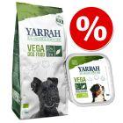 Vegetariskt set: 10 kg Yarrah torrfoder + 12 x 150 g våtfoder