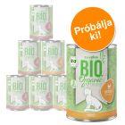 Vegyes próbacsomag: zooplus Bio macskatáp 6 x 400 g