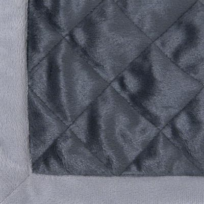 Velvet Snuggle Blanket - Granite Grey