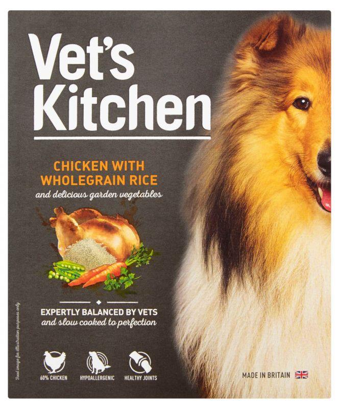 Vet's Kitchen Adult Chicken & Wholegrain Rice Wet Dog Food