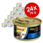 Výhodné balení GimCat ShinyCat Jelly 24 x 70 g