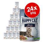 Výhodné balení Happy Cat Pouch Meat in Sauce 24 x 85 g