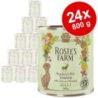 Výhodné balení Rosie's Farm Adult 24 x 800 g